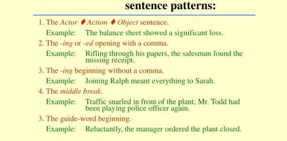 Sentence Patterns Test: Trivia Quiz