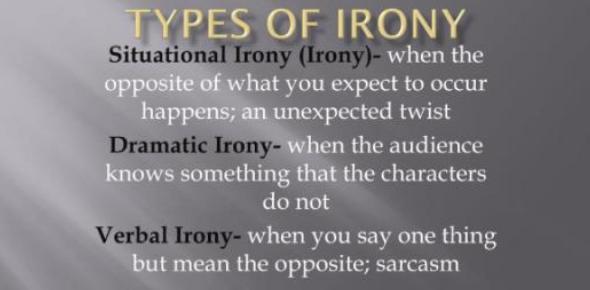 Literary Techniques Test: Types Of Irony Quiz