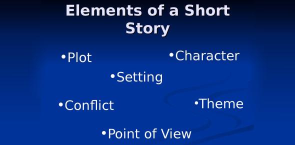 Short Story Elements Pretest