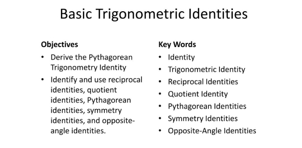 Trigonometric Identities Quiz! Math Trivia