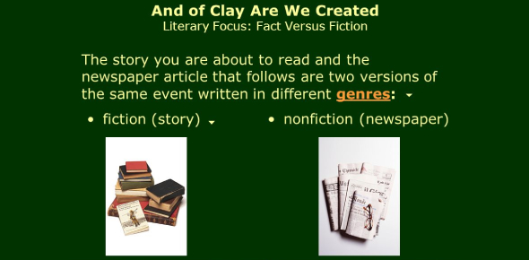 """""""And Of Clay Are We Created"""" Short Story Quiz"""