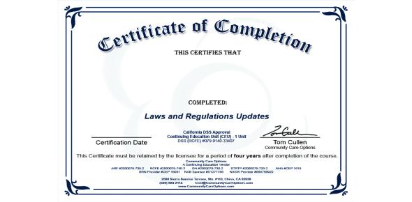 RCFE Administrator Certification Exam Prep Test