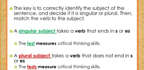 Grammar: Singular And Plural Nouns And Verbs Quiz!