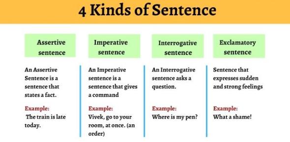 Four Kinds Of Sentences: Trivia Quiz