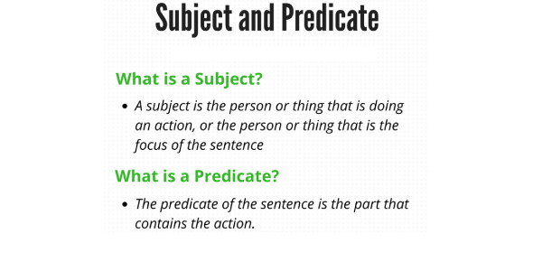 Subject And Predicate Trivia Questions