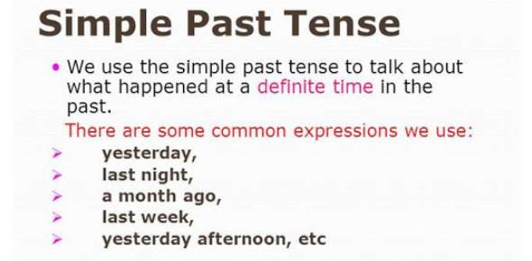 Simple Past Tense Online Exercise