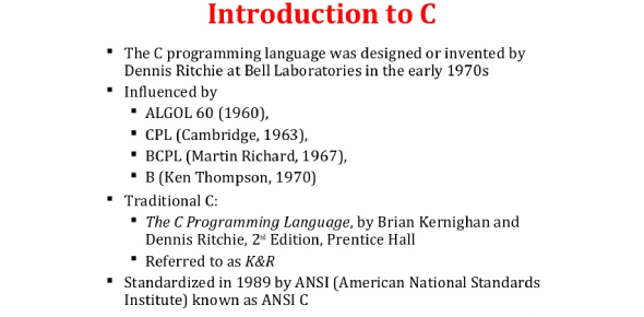 Intro To C Programming Quiz 1