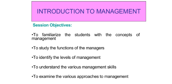 An Introduction To Management Quiz!