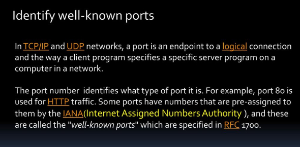 Trivia Quiz On Identifying Well-known Ports!