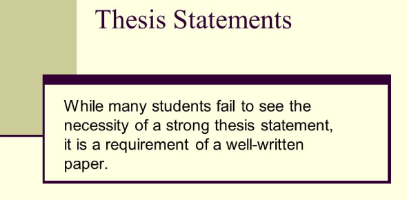Pre-assessment - Thesis Statements