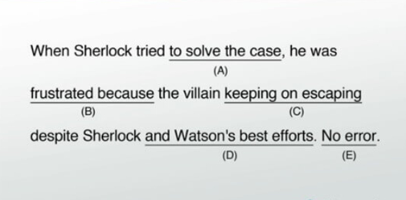 SAT Writing: Identifying Sentence Errors I