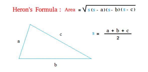 Herons Formula: Geometry Quiz! Test