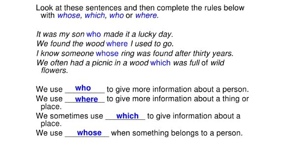 Relative Pronouns Quiz: Trivia Test!