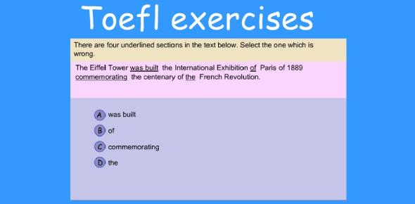 TOEFL Exercise Quiz: Test!