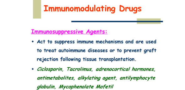 Pharm Immunomodulating Drugs