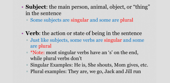 MCQ Quiz: Subject Verb Agreement Test!