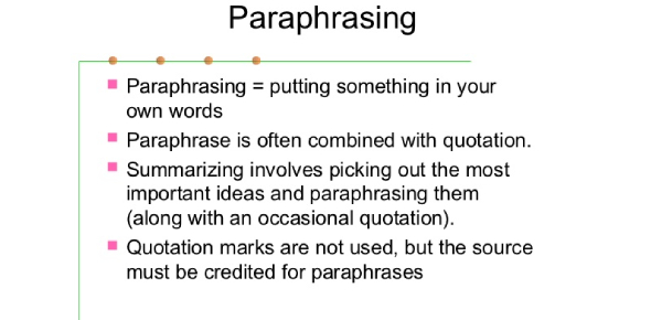 Test Your Paraphrasing Knowledge!