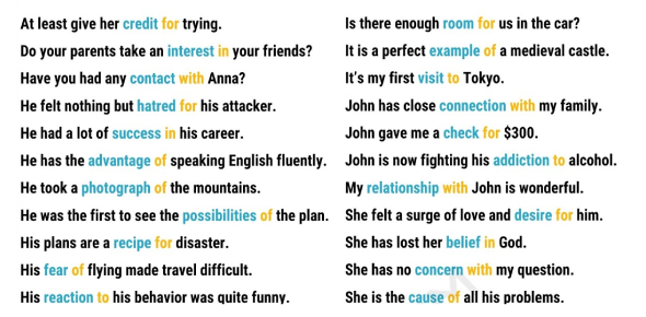 Nouns And Prepositions For TOEIC (Mini Tests)