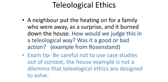Teleological Ethics (Philosophy)