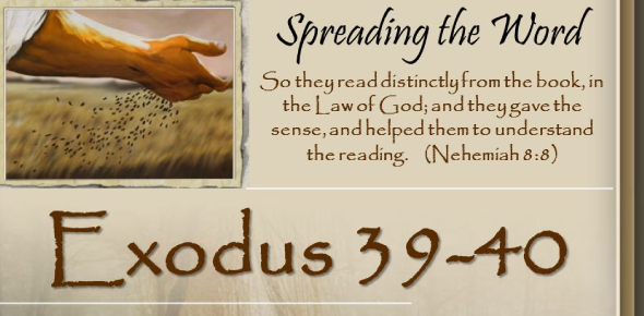 Exodus 39-40 Bible Passage: Quiz!