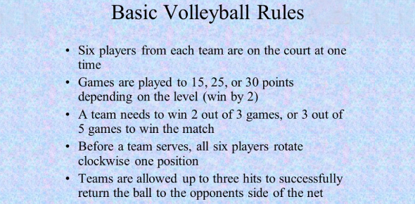 Quiz On Rules Of Volleyball! Knowledge Test! Trivia