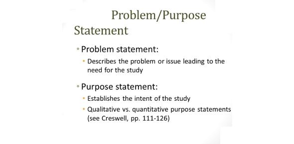 The Problem And Purpose Statement Quiz!