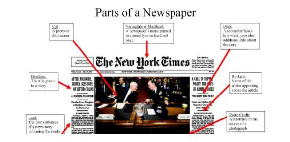 Quiz: Parts Of The Newspaper