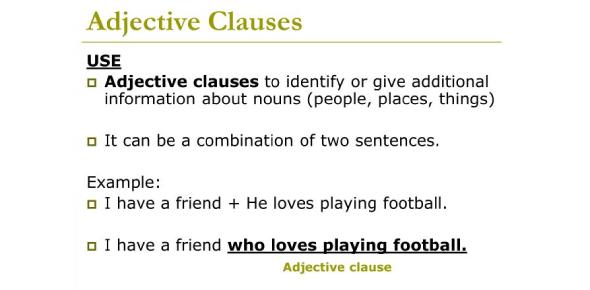 Adjective Clause Quiz