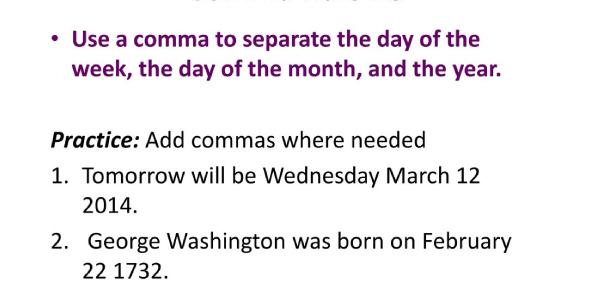 Comma Rules Test Quiz: Grammar!