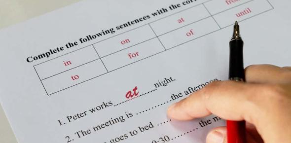 Preposition: Basic Test Quiz!