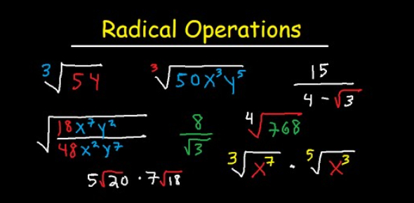 Operations With Radicals Maths Quiz