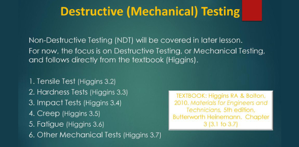 Testing Of Engineering Materials! Trivia Questions Quiz