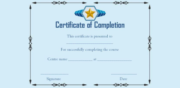 Certificate Of Successful Completion Assessment Quiz