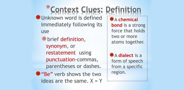 Context Clues Trivia Quiz! Test