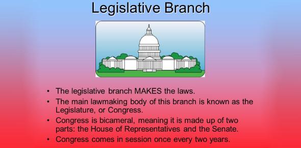 The Legislative Branch Of US Government: Quiz