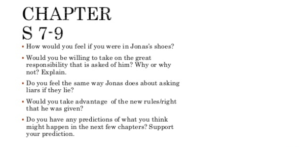 Quiz: The Giver Novel Trivia! Chapter 6 To 7