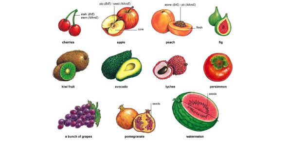 Find The Fruit Name Using The Picture Test No:3