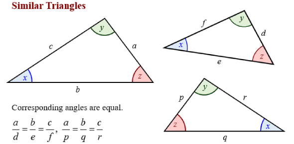Quiz Similar Triangles
