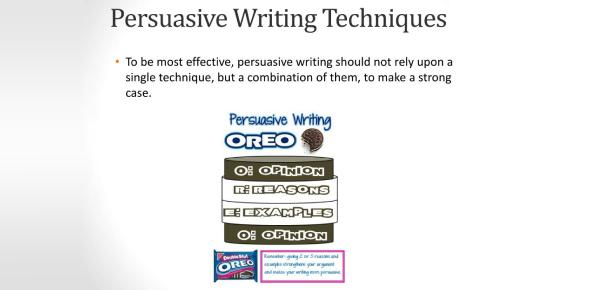 Persuasive Writing Techniques Quiz! Trivia