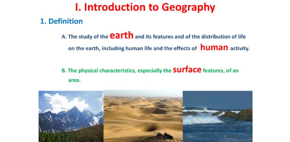 Introduction To Geography Unit Test: Quiz