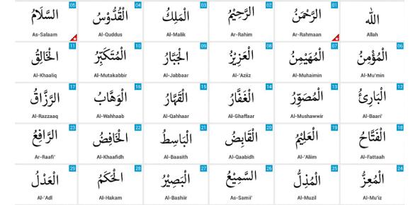 99 Names Of Allah(Swt) Quiz