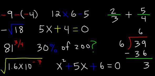 Just A Basic Maths Test Quiz!
