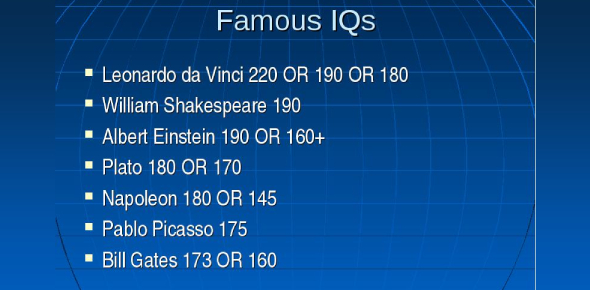 The Famous IQ Test! Trivia Quiz