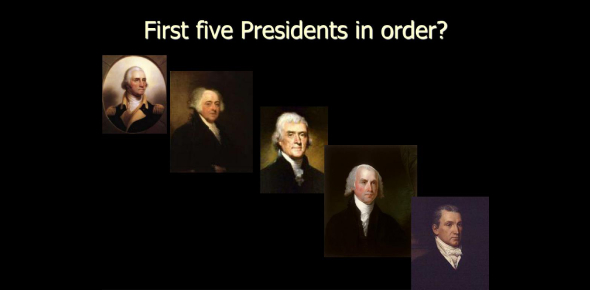 Quiz: The First Five Presidents Of America