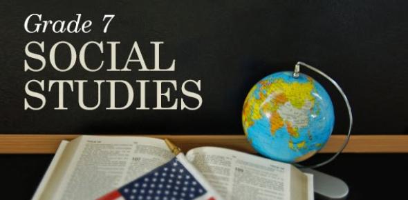 Social Studies Grade 7 Exam Practice Quiz Multiple Choice & True False