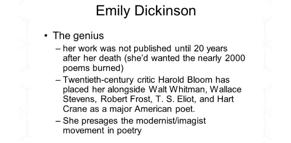 English Poetry Quiz: Emily Dickinson And Walt Whitman Poems!