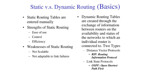 Static & Dynamic Routing Test