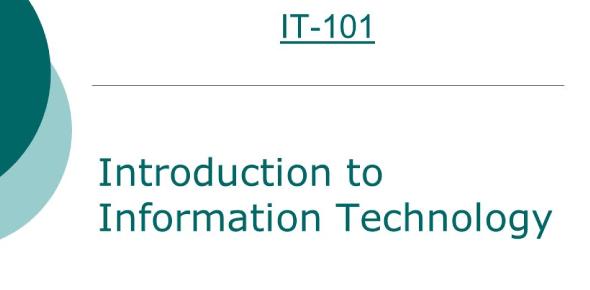 Information Technology 101: Trivia Quiz