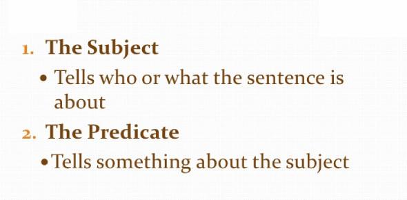 English Grammar: Simple Subject And Simple Predicate Quiz