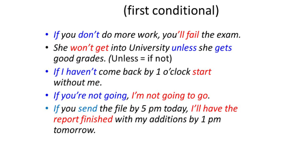 The First Conditional Tense Quiz! Trivia